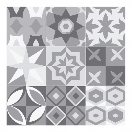 Stickers Carreaux de Ciment Gris