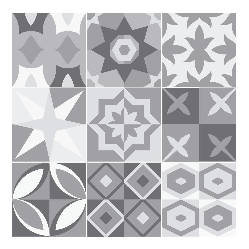 Epaisseur Carreau De Ciment stickers carreaux de ciment gris - sticker mural | stickerdeco.fr