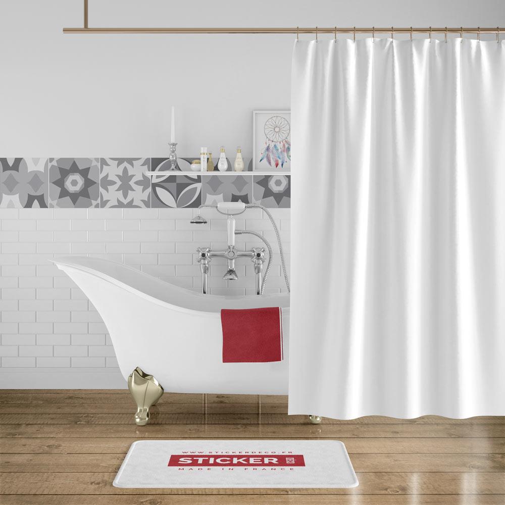 Carreau De Ciment Toilette stickers carreaux de ciment gris - sticker mural | stickerdeco.fr