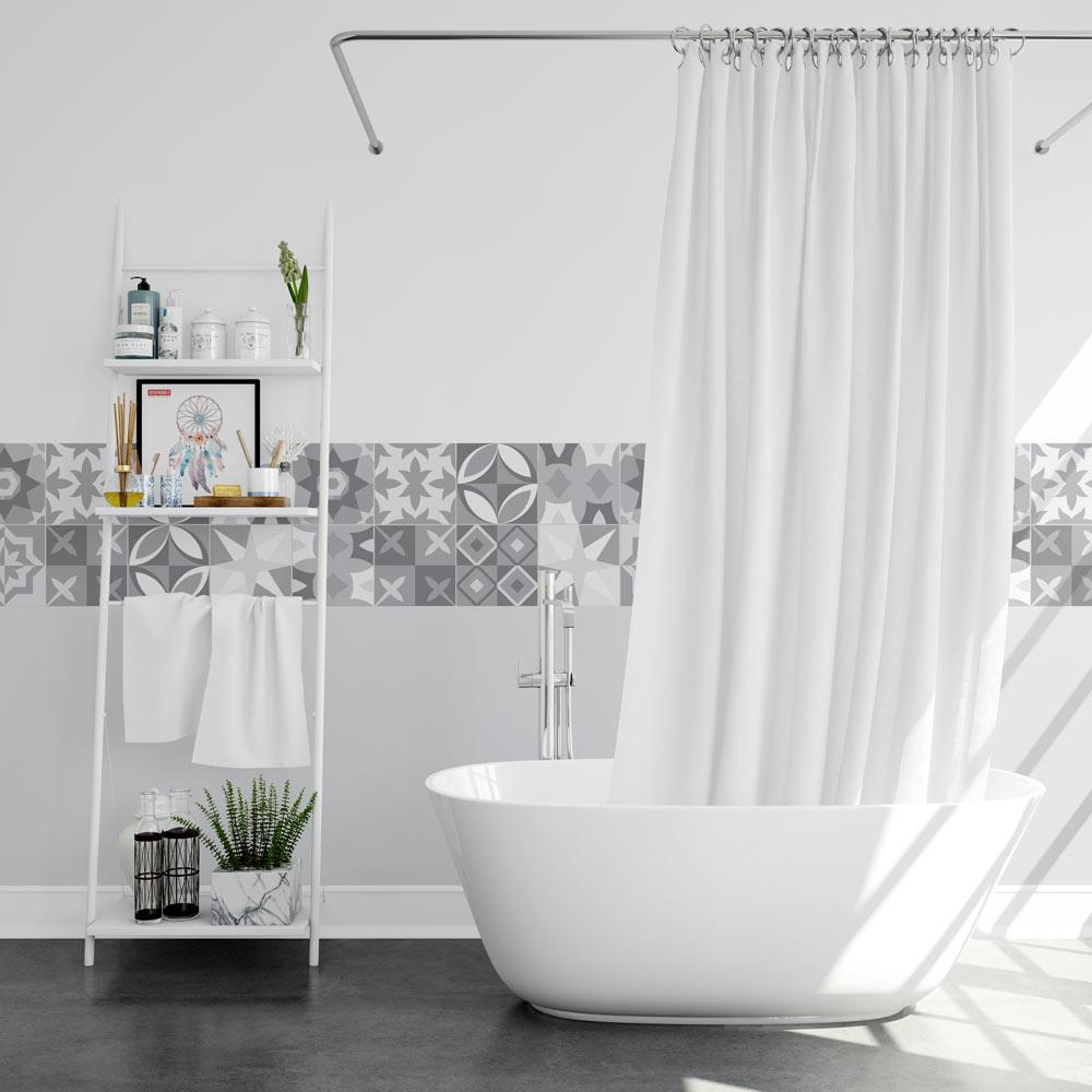 stickers carreaux de ciment gris sticker mural. Black Bedroom Furniture Sets. Home Design Ideas