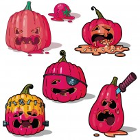 sticker citrouille halloween