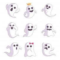 sticker fantome halloween