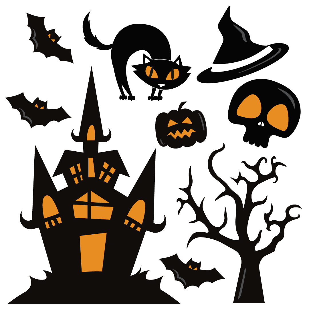 Sticker Maison Hantée Sticker Mural Halloween Stickerdecofr