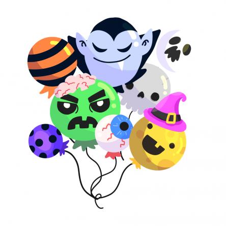 Sticker Halloween Ballons Mignons