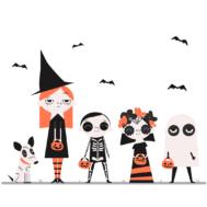Sticker Frères et Soeurs Halloween