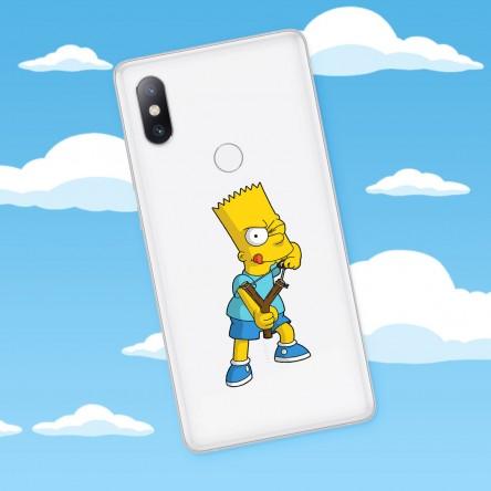 Sticker Bart Simpson Téléphone