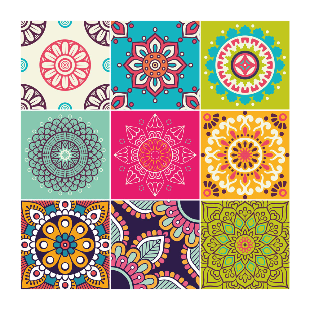 Stickers Carreaux de Ciment Mandala
