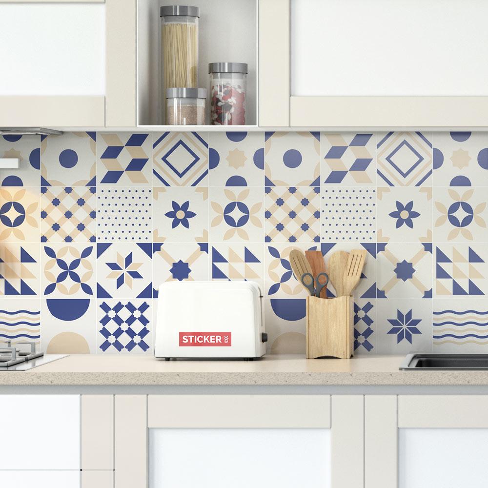Chambre Provencale Idee Deco sticker carreaux de ciment provençal - sticker mural | stickerdeco.fr