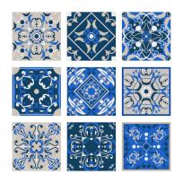 carreaux de ciment baroque gris bleu