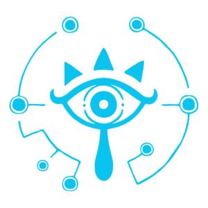 Sticker Zelda Sheikah Emblème Mural