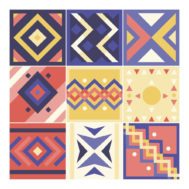 Sticker Carrelage Africain