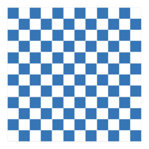 Sticker Carrelage Damier Bleu