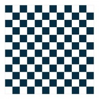 Sticker Carrelage Damier Bleu Nuit