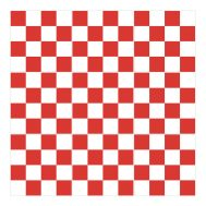 Sticker Carrelage Damier Rouge