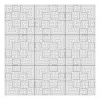 Sticker Carrelage Labyrinthe