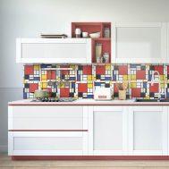 Sticker Carrelage Mondrian