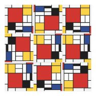 Sticker Carrelage Mondrian