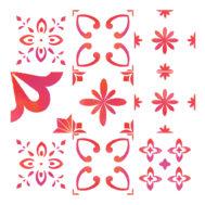 Stickers Carrelage Rouge Eau