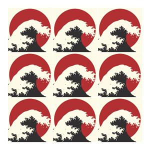 Sticker Carrelage Vague