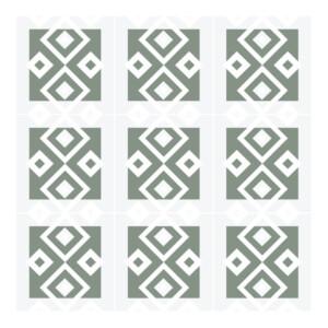 Sticker Carrelage Vert Pale