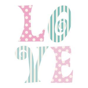 Sticker Love Papier