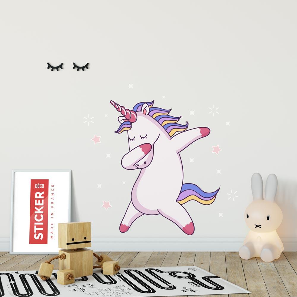 Sticker Licorne Dab