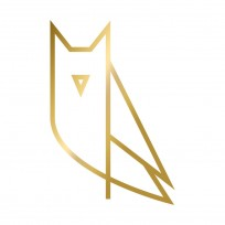 Sticker Hibou Origami