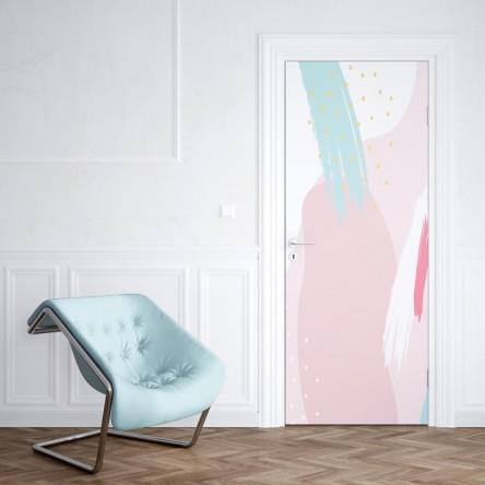 Sticker Porte Abstrait