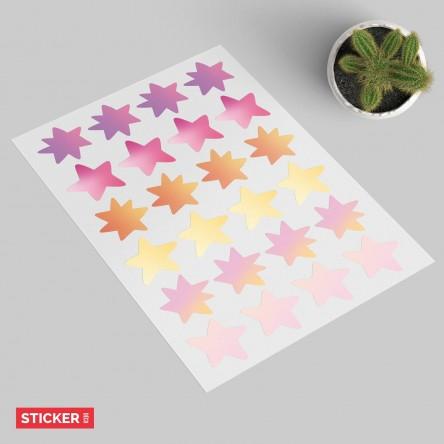 Stickers Étoiles Aquarelles