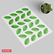 Stickers Feuilles Printemps