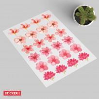 Stickers Fleurs Aquarelles
