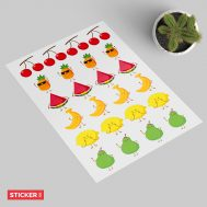 Stickers Fruits Kawaii