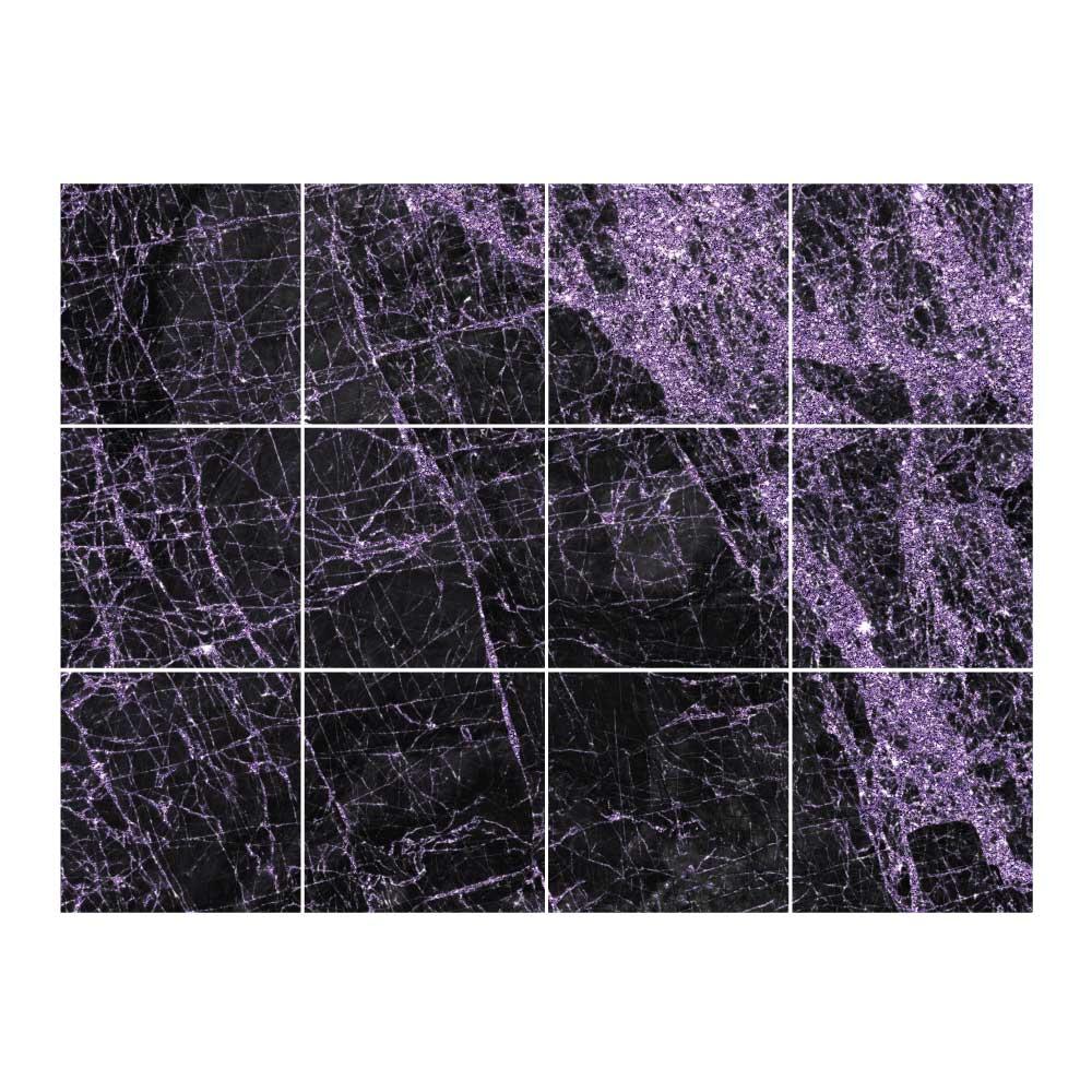 Sticker Carrelage Marbre Noir & Violet