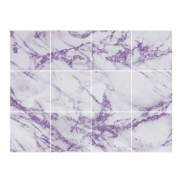 Sticker Carrelage Marbre Violet