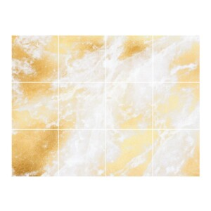 Stickers Carrelage Marbre Or