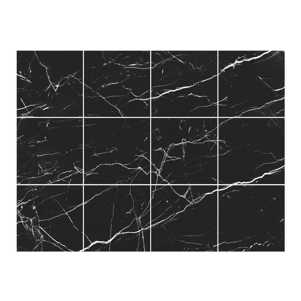 Stickers Carrelage Marbre Noir Électrique