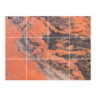 Stickers Carrelage Marbre Orange