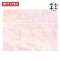 Stickers Carrelage Marbre Rose