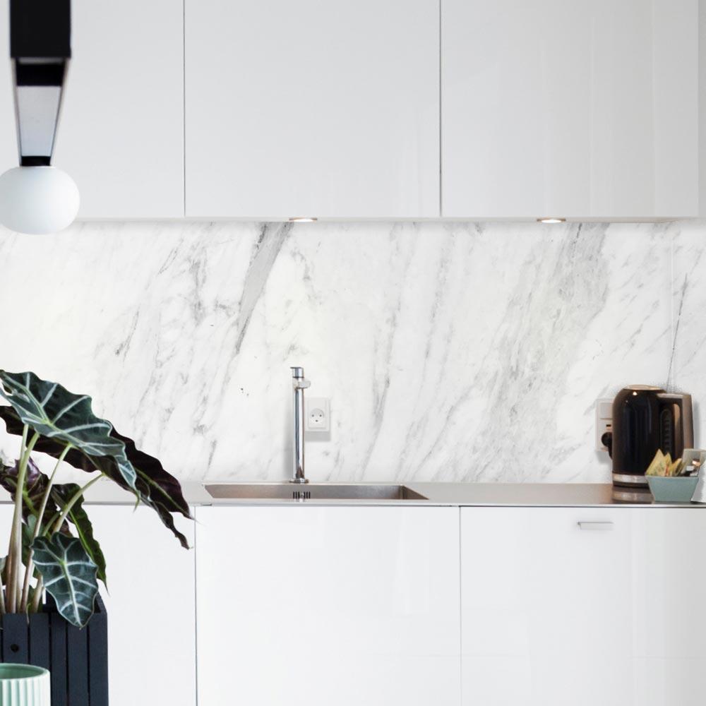 Credence Cuisine Marbre Blanc crédence adhésive marbre imitation | autocollante | stickerdeco.fr
