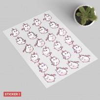 Stickers Licorne Kawaii