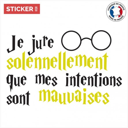 Sticker Harry Potter Intentions Mauvaises
