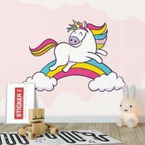 Sticker Licorne Arc-en-ciel
