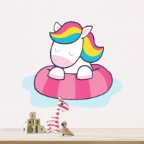 Sticker Licorne Plage