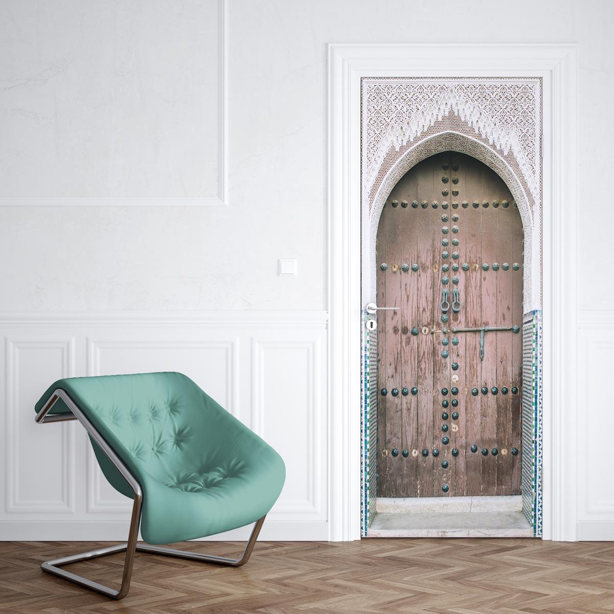 Stickers Pour Fenetre Chambre sticker pour porte orientale - sticker porte | stickerdeco.fr