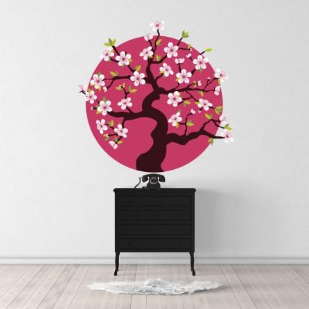Sticker Cerisier Japon