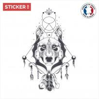 Le Sticker Loup Indigène