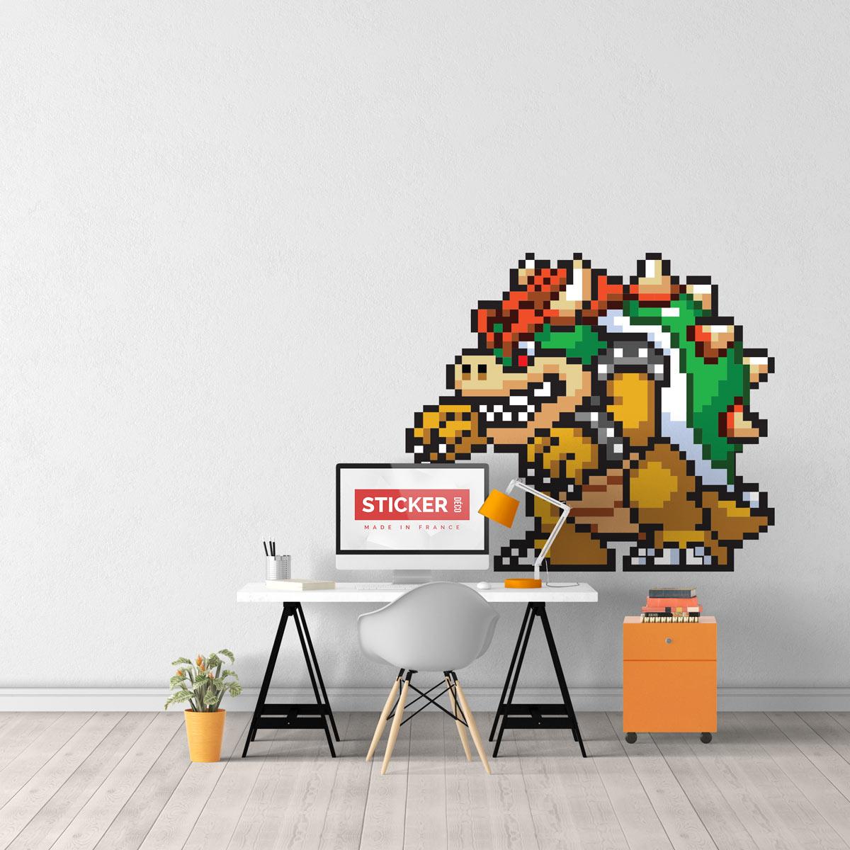 Sticker Pixel Art Bowser