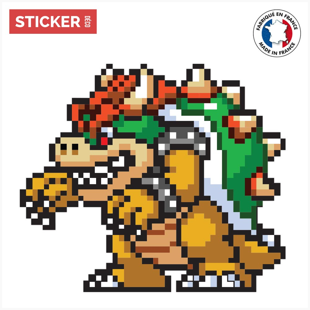 Sticker Bowser Mario Stickers Mario Autocollants Stickerdecofr