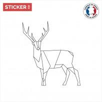 Sticker Cerf Origami