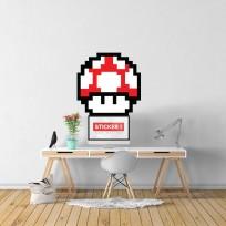 Sticker-Champignon-Rouge-Mario